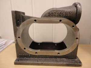 Hedensted - 4130005 - 691038(691039) - Pump housing, machined sample piece 2013.01.03 -006