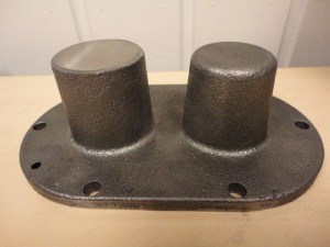 Hedensted - 413015 - 691040 - Pump cover, machined sample piece 2013.01.03 -020