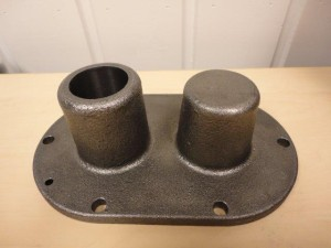 Hedensted - 413020 - 691040 - Pump cover, machined sample piece 2013.01.03 -010